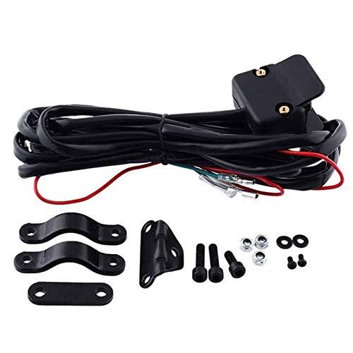XWSQ Nueva Motocicleta ATV/UTV 3 Metros Banco Rocker Switch de Control de Manillar Línea de Control Advertencia Kits 12V Conector de Interruptor de Sellado Completo Supplie
