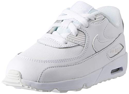 Nike Toddler Air Max 90 LTR White/White (9 US Toddler)