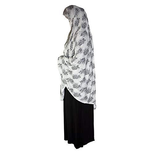 XL Khimar Hiyab largo listo para musulmán, una pieza, elástico, pañuelo para la cabeza, material de licra, chadores, árabe, oración islámica, vestido, musulmán