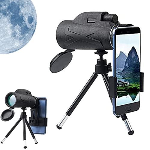 ONLYU Telescopio Monocular, 80X100 Zoom HD Portátil Monocular Soporte Móvil Tener Teléfono Portátil Prisma Fotos, HD Monocular...
