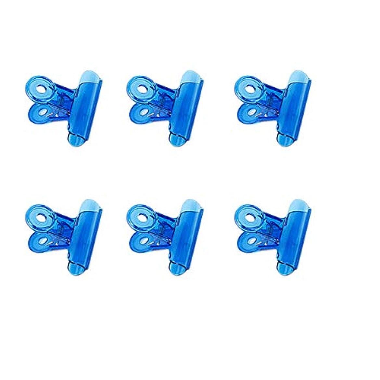 オペラけん引植生CUHAWUDBA 6個/セット Cカーブネイルピンチクリップ 多機能ツール アクリルネイルピンチャー ペンチブルー