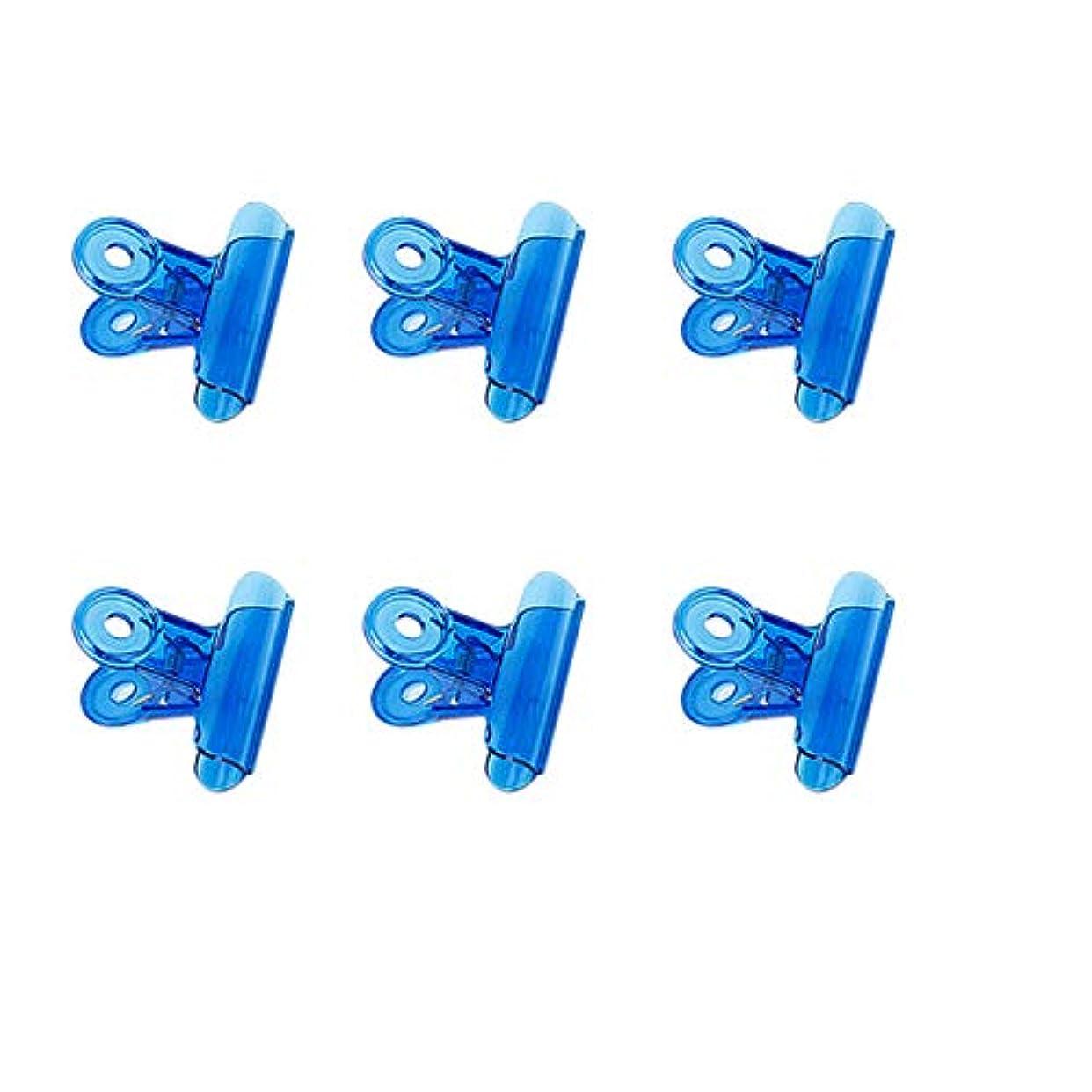 通行料金スプリット習熟度CUHAWUDBA 6個/セット Cカーブネイルピンチクリップ 多機能ツール アクリルネイルピンチャー ペンチブルー