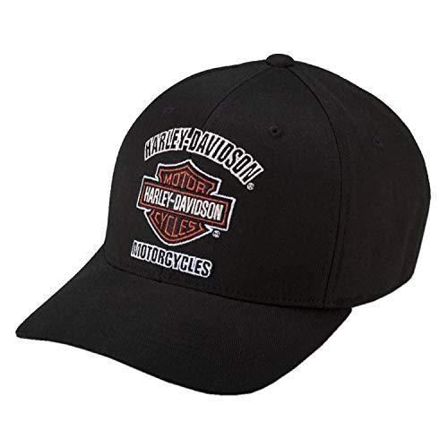 Harley-Davidson Baseball-Cap Biker Kappe Bar & Shield Traditional Motorrad Basecap Cappy für Damen und Herren Schwarz, L
