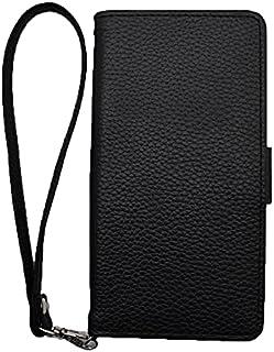 LG Disney Mobile on docomo DM-01G [KYOTO SAKURAYA][鏡無し] 黒色 ブラック ストラップ サイドマグネット 手帳型 case スマホケース スマホ カバー ケース 携帯 ストラップ穴 カメラ穴 ...