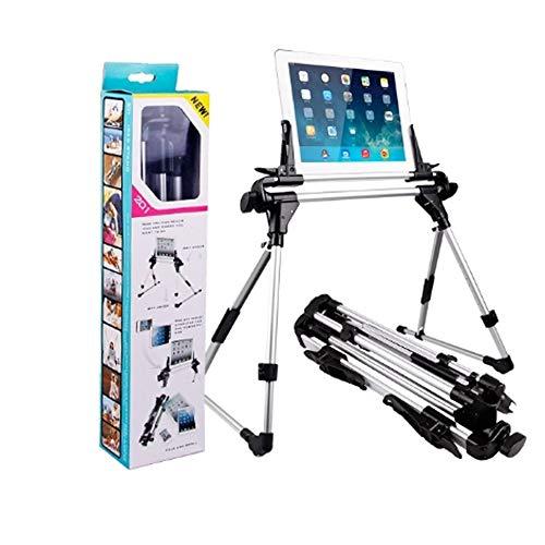 Six6 Draagbare Tablet Stand, Verstelbare Tablet Telefoonhouder Lazy Mount Bed Tablet Klem Statief voor Ereaders, Smartphones, Boeken, Vloer, Desk,Sofa