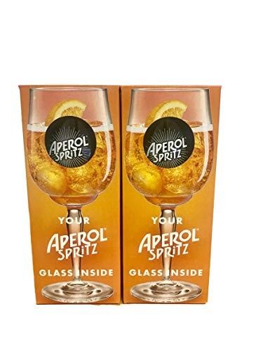 APEROL Spritz - Copas de cóctel (2 unidades, cristal con vapor, 51 cl)