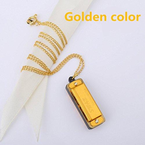 Nieuwe Leuke Zwaan Mini Harmonica 4 Gat 8 Toon Ketting Gouden Kleur met Doos