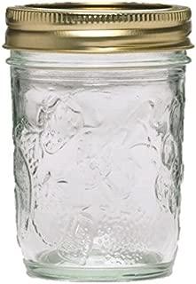 Ball 40801 Golden Harvest Mason Regular Mouth 8oz Jelly Jar 'Vintage Fruit Design', RM 8 Oz, Clear Pack of 36