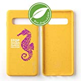Wilma Eco-Friendly Biodegradable Compatible with Samsung Galaxy S10 Case, Stop Ocean Plastic Pollution, Plastic-Free, Zero Waste, Non-Toxic, Fully Protective Phone Cover – Seahorse