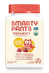 This chewable organic vitamin contains 14 essential nutrients including vitamin D3 for strong bones and teeth,* vegetarian omega-3 and vitamin B12 for immunity - all in one delicious gummy For children 4+ years of age, take 4 gummies daily. May be ta...