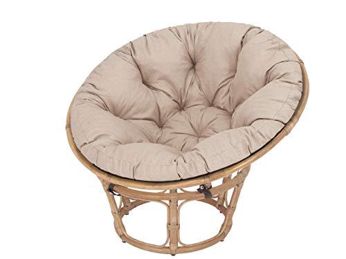 Acolchado para sillón Papasán, acolchado, acolchado de repuesto Papasan, diámetro 114 cm, cojín de suelo acolchado, manta para gatear, sillón colgante, fabricado en la UE, color beige