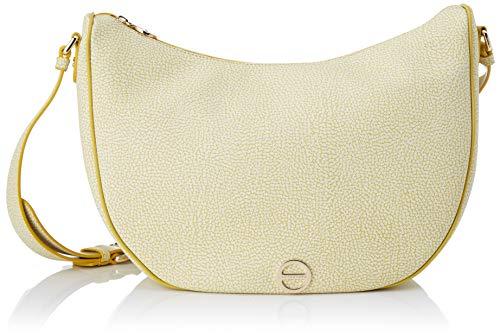 Borbonese Luna Bag Small, Borsa a Tracolla Donna, Giallo (Giallo/Giallo), 28x25x12 cm (W x H x L)