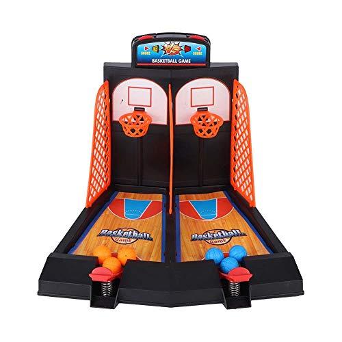 YOUTHINK Mini Máquina de Baloncesto Doble Juego de Tiro de Baloncesto de Escritorio Juego de Baloncesto de Interior con Puntaje Electrónico para Niños(Tiro de Baloncesto de Escritorio)(Desktop Ba