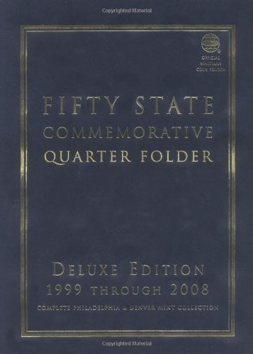 Fifty-State-Commemorative-Quarter-Folder-1999-Through-2008-Complete-Philadelphia-Denver-Mint-Collection-Official-Whitman-Coin-Folder-By-Whitman-Coin-Book-and-Supplies-May-2000