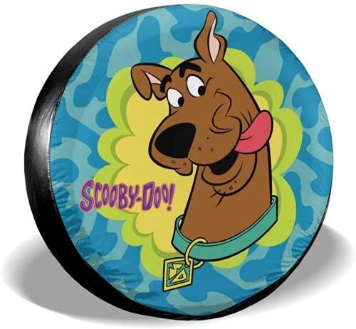 Scooby Doo - Cubiertas para neumáticos de coche, con diseño de anime, cubierta para rueda de coche, caravana, impermeable, cubierta para rueda de repuesto (Scooby Doo-05,15 pulgadas)