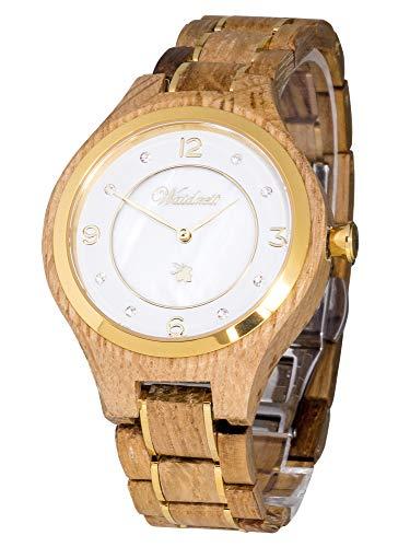 Waidzeit YC03 Weinprinzessin Champagne Uhr Damenuhr Holz Holz 0 bar Analog braun