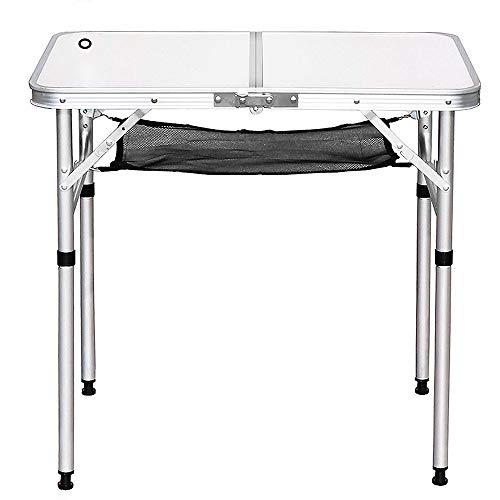 Picnic Table Outdoor Folding Table Portable Portable Picnic Garden Barbecue Table Self-driving Camping Folding Table Easy Assembly (Color : Creamy-white, Size : 70x50x60CM)