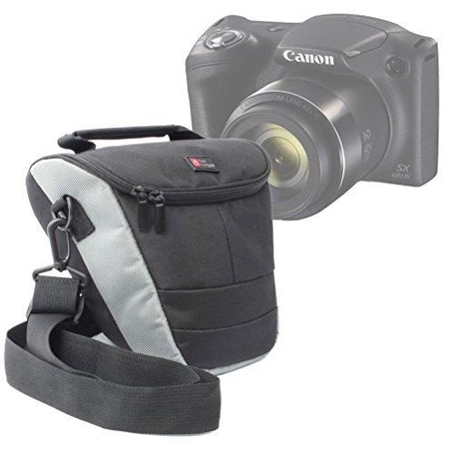 –Funda de almacenaje para cámaras Bridge Canon PowerShot SX420is y sx540HS y sus accesorios–Correa de transporte Bonus