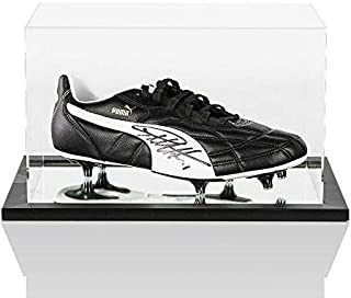 Sir Geoff Hurst Signed Football Boot Puma In Acrylic Display Case Autograph - Autographed Soccer Cleats