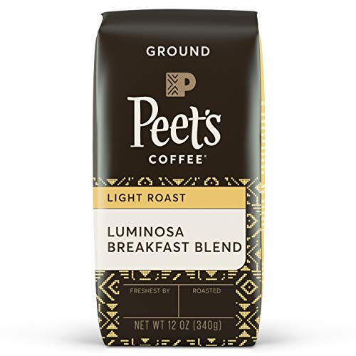 Peet's Coffee Luminosa Breakfast Blend Light Roast Ground Coffee, 12 Ounce Bag