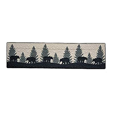 Donna Sharp Valance - Bear Walk Plaid Lodge Decorative Window Treatment with Bear Pattern