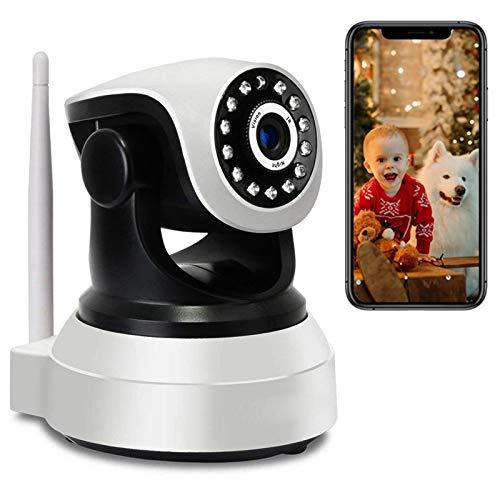 Monitor de Bebé 1080P HD WiFi IP Cámara de Vigilancia Interior WiFi PTZ Cámara con Audio Bidireccional,15M HD IR Visión Nocturna,Detección de Movimiento,Compatible iOS/Android 【Cámara+32G-TF-Tarjeta】