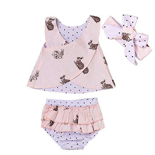 Tianhaik Meisjes Bloemen Outfits Set Zomer Peuter Baby Polka Dot Mouwloos Swing Vest Tops + Shorts voor Casual