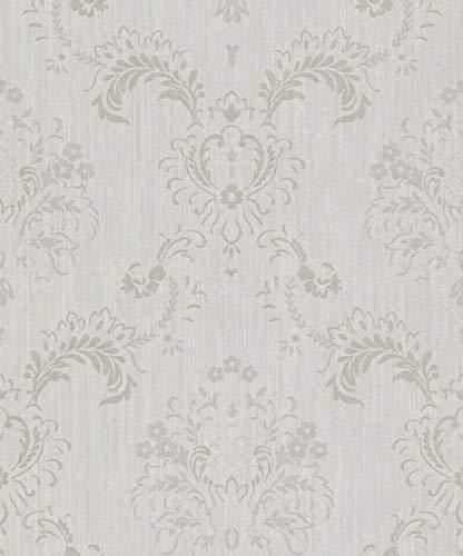 Casa Padrino Barock Textiltapete Grau 10,05 x 0,53 m - Hochwertige Wohnzimmer Tapete im Barockstil