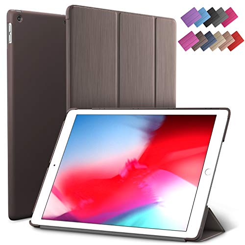 iPad Air 3 case, ROARTZ Metallic Brown Slim Fit Smart Rubber Coated Folio Case Hard Cover Light-Weight Wake/Sleep for Apple iPad Air 3rd Generation 2019 Model A2152 A2123 A2153 10.5-Inch Display -  19C09