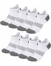 Falechay Sneakersokken voor dames en heren, 8 paar, katoen, sportsokken, loopsokken, korte sokken, ademende halfsokken