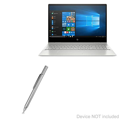HP Envy x360 Convertible 2-in-1 Laptop (15.6') Stylus Pen, BoxWave [FineTouch Capacitive Stylus] Super Precise Stylus Pen for HP Envy x360 Convertible 2-in-1 Laptop (15.6') - Metallic Silver