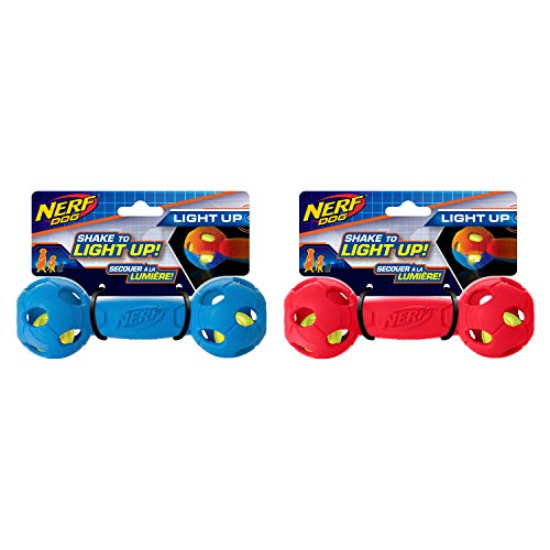 Light-up NERF Barbell Dog Toys Review