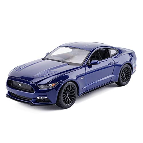 YANGFH Auto Model Car 1:18 Ford Mustang GT Simulazione Lega Die-Casting Toy Ornaments Sports Car Collection Jewelry 25.2x11.2x7.9CM Modello d'auto (Color : Dark Blue)