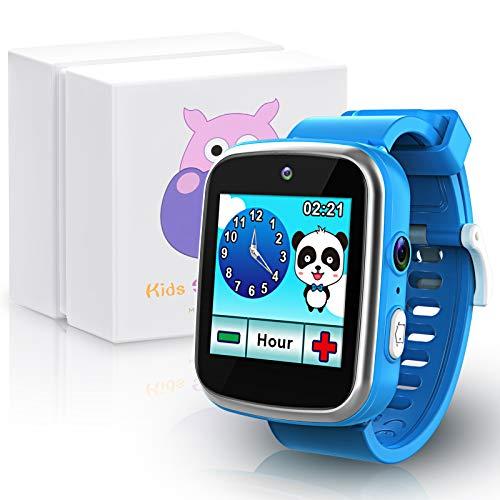 Montre Intelligente pour Enfants avec Double Caméra HD, Jouets d'apprentissage Cadeaux d'anniversaire de Noël pour garçons de 3 à 10 Ans Smartwatch à écran Tactile Multifonction