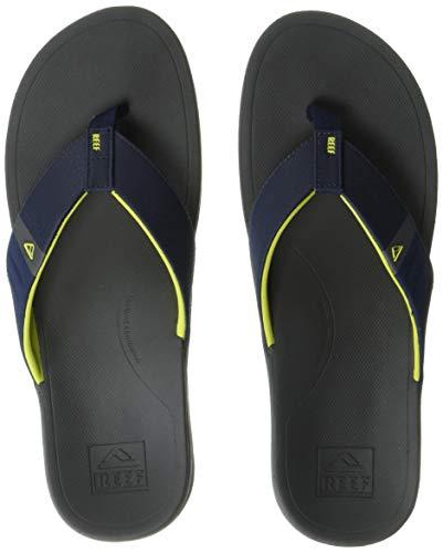 Reef Men's Ortho-Bounce Sport Sandal, Navy/Yellow, 12