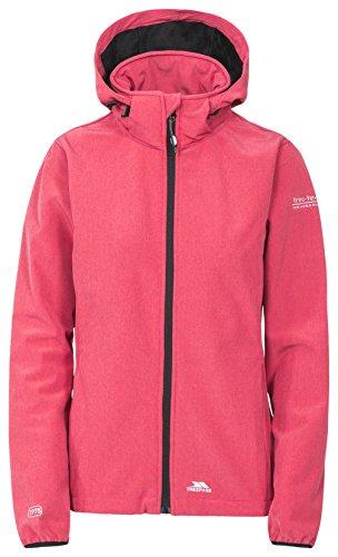 Trespass Ramona, Raspberry, L, Wasserdichte Softshelljacke mit Kapuze für Damen, Large, Rosa / Pink