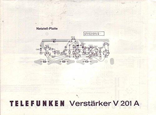 Telefunken Verstärker V 201 A Netzteil-Platte Anleitung