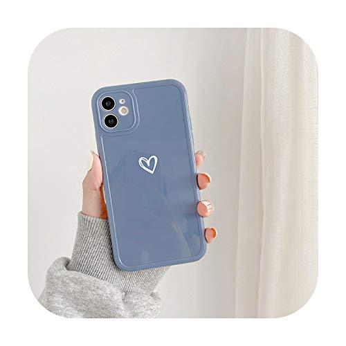 Carcasa para iPhone 12 Mini 11 Pro X XR XS Max 7 8 Plus SE 2 Moda Amor Corazón Colores Caramelo Suave TPU Case GY-para iPhone 12 Mini
