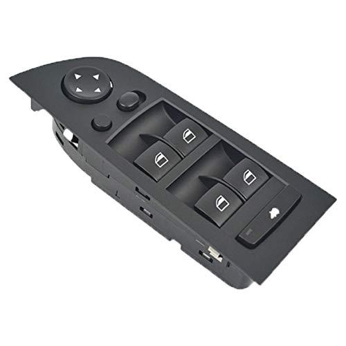 YUSHHO56T Auto Raam Schakelaar Auto Interieur Onderdelen Schakelaar Links Voordeur Elektrische Glas Raambediening Lift Schakelaar voor BMW E90 3 Serie - Zwart