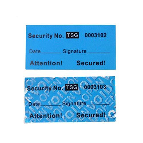 100 Piezas 25x50 mm Tipo De Sin Transferencia Tamper Evident - Void Etiquetas De Seguridad
