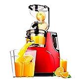 KOKO exprimidor casa separación automática de residuos de jugo de gran diámetro de frutas y verduras pequeña máquina de jugo máquina de jugo frito máquina de leche de soja fuerte 150W rojo