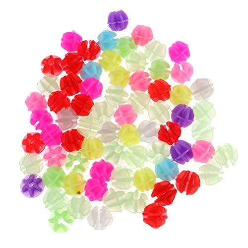 LIOOBO 36 Stücke Speichenperlen Speichenclips Speichenklicker im Dunkeln Leuchtend Kinderfahrrad Zubehör für Kinder Roller Speichen Dekoration