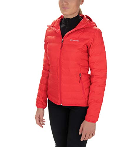 Columbia Lake 22, Doudoune à Capuche, Femme Rouge (Red Lily) - XS