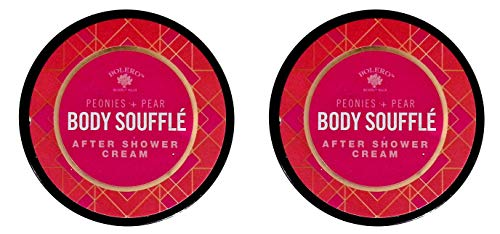 Bolero Beverly Hills Body Souffle Peonies + Pear After Shower Cream 5fl oz (147.8ml) (for All Skin Types) (Set of 2 Pack)