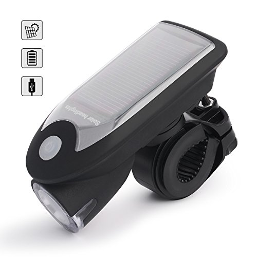 Zuoao LED Luci per Bicicletta Anteriore 240LM Luce Bici LED Batterie Incluse 4 Modalità di Illuminazione Resistente all'acqua con 360 Angolo Regolabile