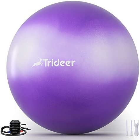 Trideer Newest Exercise Ball Yoga Ball for Home Gym Desk Chair Fitness Yoga Physical Therapy product image