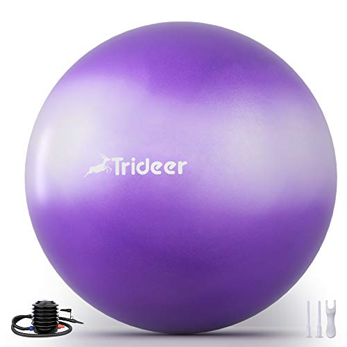 Trideer Newest Exercise Ball, Yoga Ball for Home Gym & Desk Chair - Fitness, Yoga & Physical Therapy, with Quick Pump [ Sweet Series, 55cm & 65 cm ]