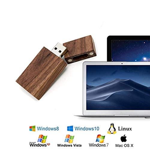 USB-Speicherstick, Holz, USB 3.0, 64 GB, Walnuss, 5 Stück