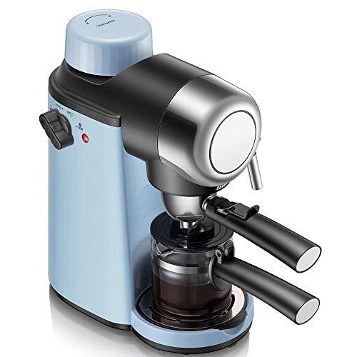 WMM-Coffee machine Cafetera, Máquina de café de Filtro, con Temporizador, función de Calentamiento y Apagado automático, Sistema antigoteo, Bomba de presión de 5 Bar