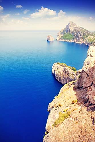 Bilderdepot24 Poster selbstklebend Cap de Formentor - Mallorca - Vintage 50x75 cm - Wandposter Tapete Motivtapete - Balearen Landschaft Pollensa